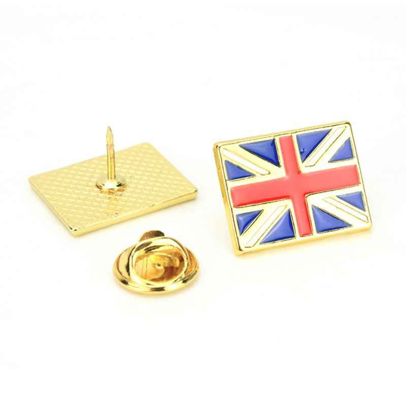 Enamel Amerika Inggris Russia Flag Lapel Pin Bros Patriotik Dengan Bangga Perhiasan