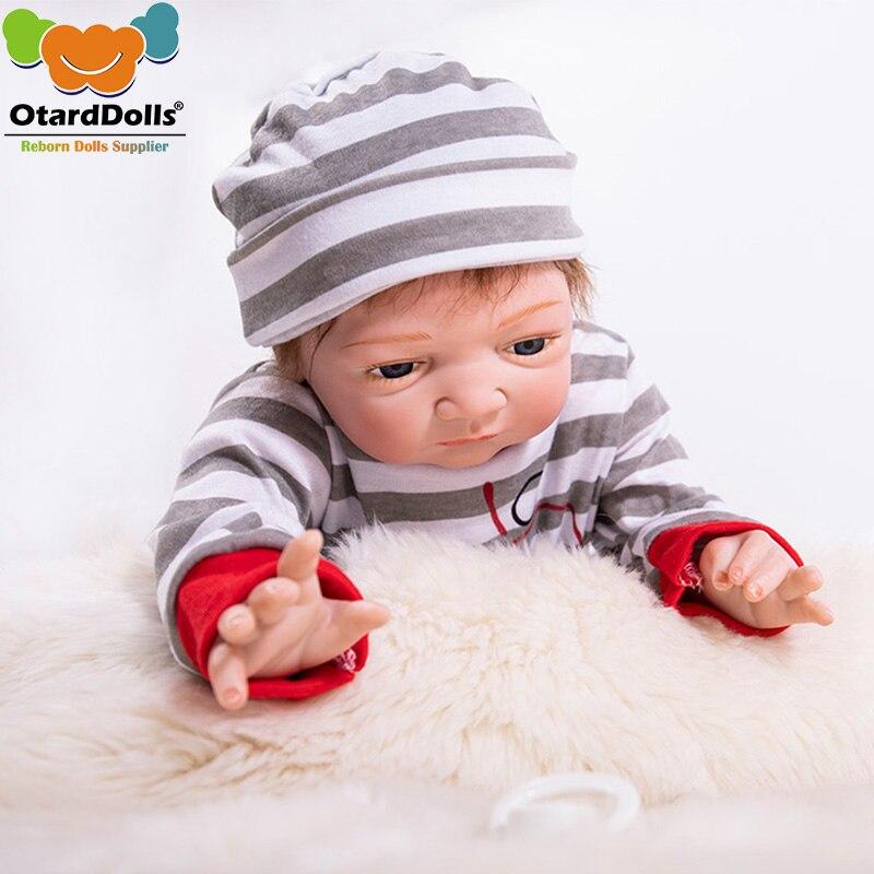 Otardpoupées 20 pouces réaliste reborn poupées bébés vinyle silicone garçon poupées bébé réel vivant jouets pour filles bebe cadeau reborn bonecas