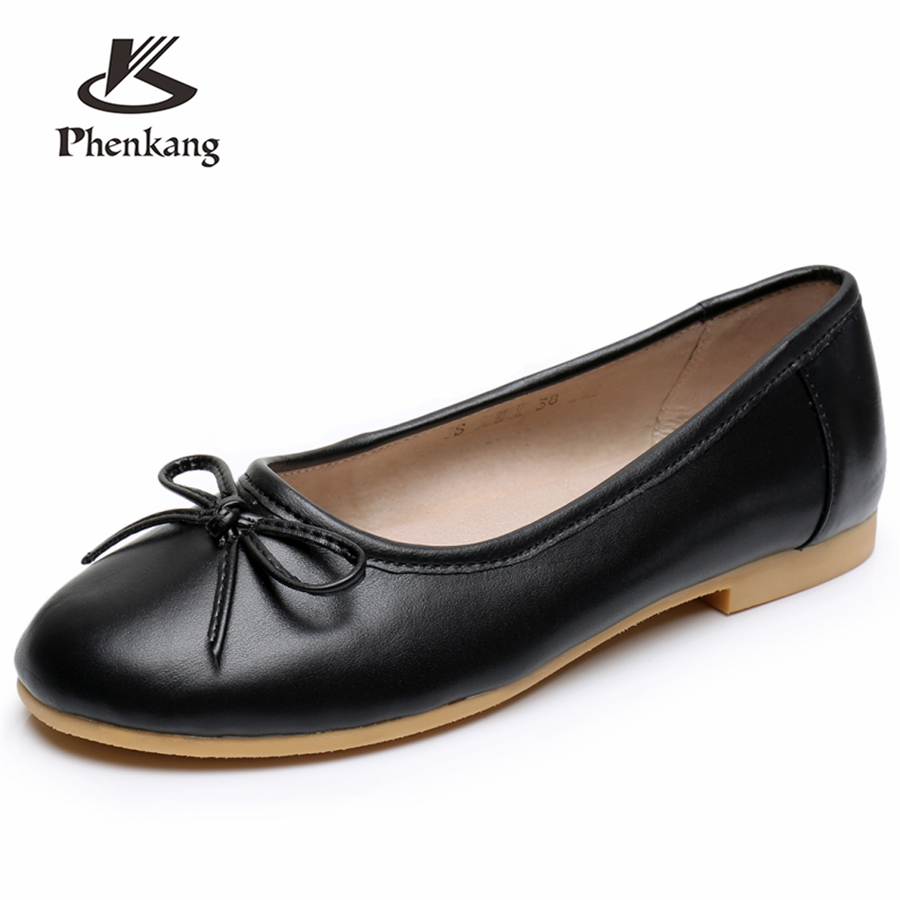 Genuine cow Leather lady flats shoes handmade vintage oxford shoes for women casual slip on shoes 2018 grey beige brown black