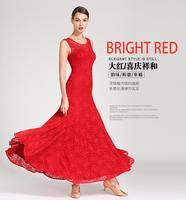Women Modern Waltz Tango Smooth Ballroom Dance Dress Standard Ballroom Dress Long sleeve ballroom dance lace yi