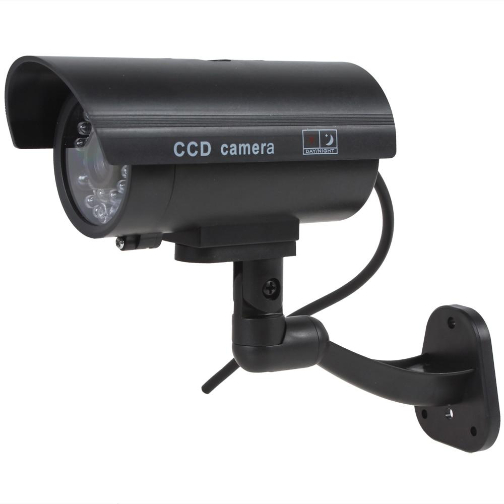 bilder für 5 teile/los Wasserdichte CCTV Falsche Emulational Outdoor Gefälschte Kamera Dummy Überwachungskamera Decoy mit IR Blinkende Rote LED