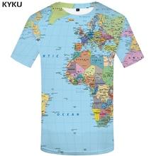 Funny T shirts World Map T-shirts Men Graffiti Tshirt Printed Tshirts Casual Geometric Homme shirt 3d