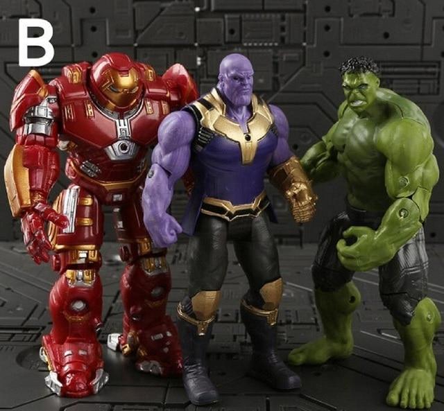 Vingadores Marvel Thanos Infinito Guerra Ironman Spiderman Venom Hulk Thor Capitão América Black Panther Figura Modelo Brinquedos de Vinil