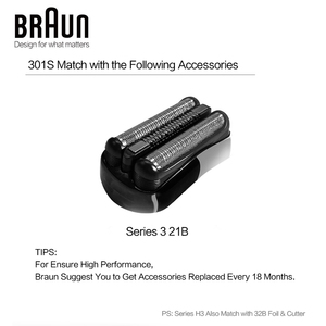 Image 5 - Braun Serie Afeitadora eléctrica 3 301S para hombre, afeitadora de carga rápida, lavable, para todo el cuerpo