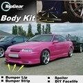Бампер Передний Спойлер Губы Для Opel Calibra Дефлектор Юбка для TopGear Друзей Для Тюнинг Автомобилей Вид/Body Kit газа