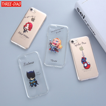 Marvel Comics DC Comics Iron Man Spider-Man joker Batman soft silicone cover Case for iphone 7 6 6S 8 Plus 5S SE X XS MAX marvel glass iphone case