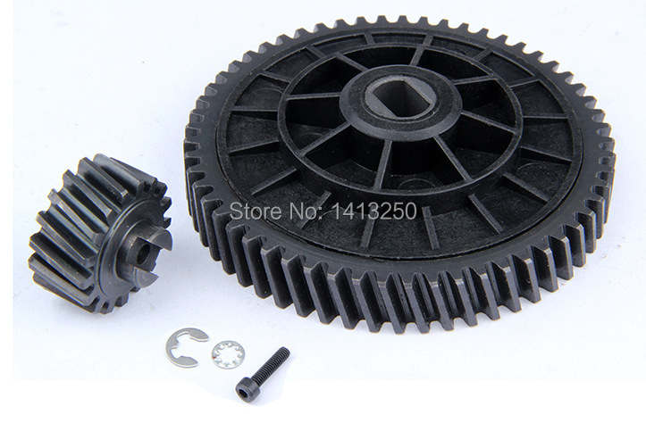 CNC model 95229,  57/17 Metal Helical Toothed Bevel Gear Set for baja 5B parts ,free shipping free shipping cnc gear box set for baja 85128