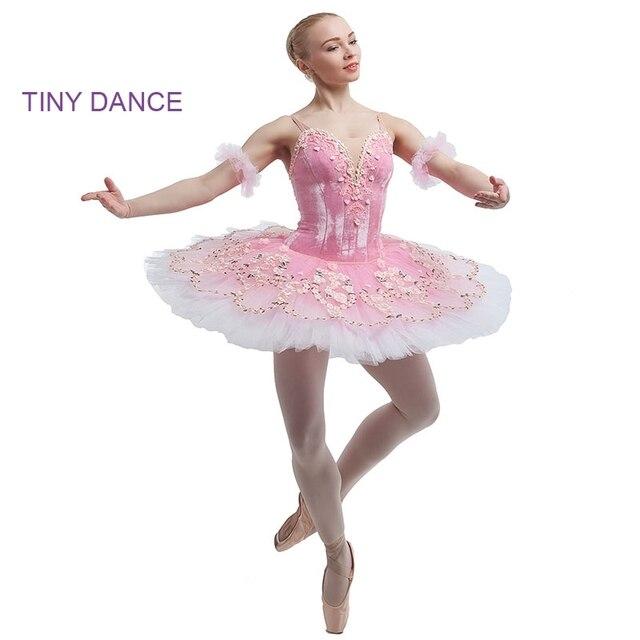 Eccezionale Rosa Balletto Tutu per le Ragazze Professionale Costume di Scena  GM74