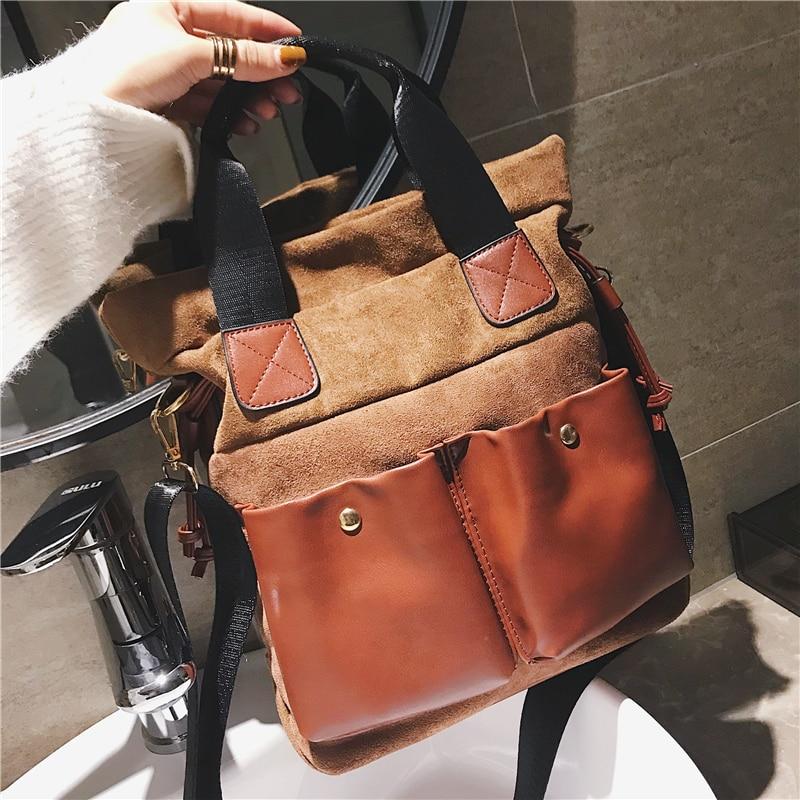 Fashion big bag female 2018 new wave Korean version of the wild single shoulder slung portable personality retro tote bag 33