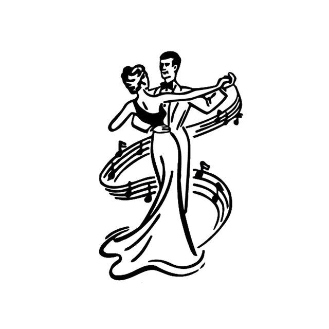 CM Romantic Couples Waltz Car Sticker Personalized Custom - Couple custom vinyl decals for car