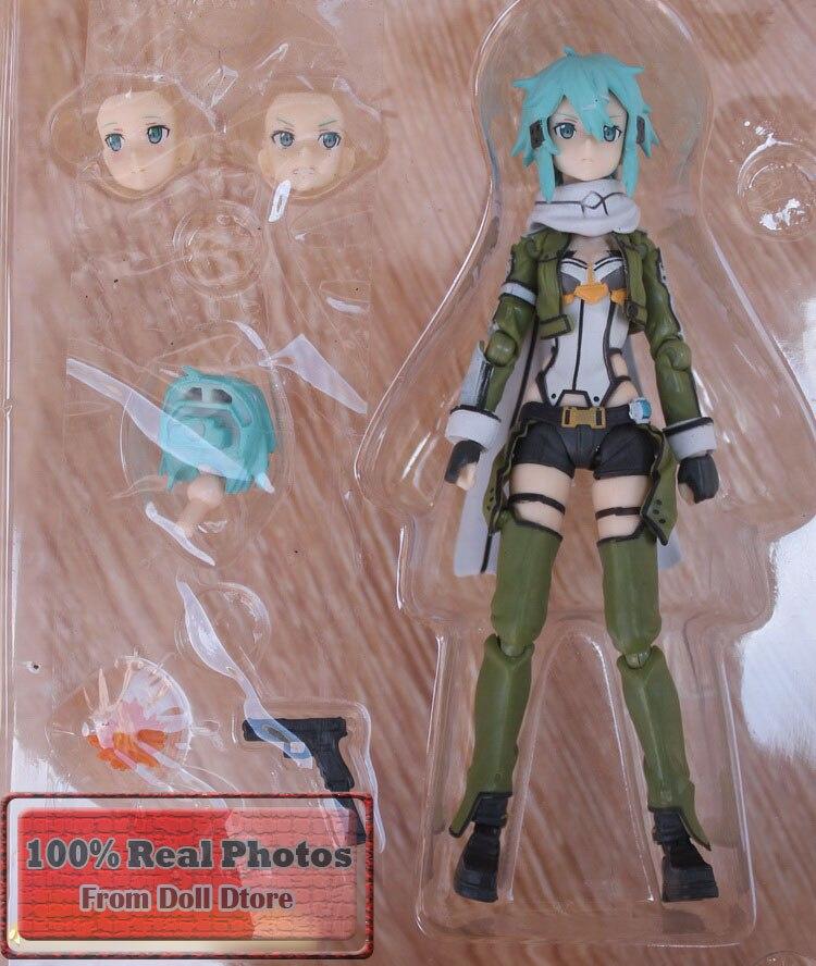 15CM Japanese anime Figma 241 GGO Sinon Action Figure SAO Brand Anime Sword Art Online 2