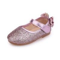 dea9244df JGVIKOTO niñas moda pisos niños niño princesa zapatos con lazo-Nudo brillo  Bling vestido boda