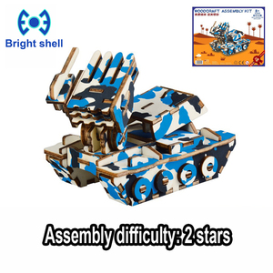 DIY arts and 3D Chariot Handmade Wooden Craft toys Party Arts Puzzles Model Decoration for children kid Toy Birthday Best Gift