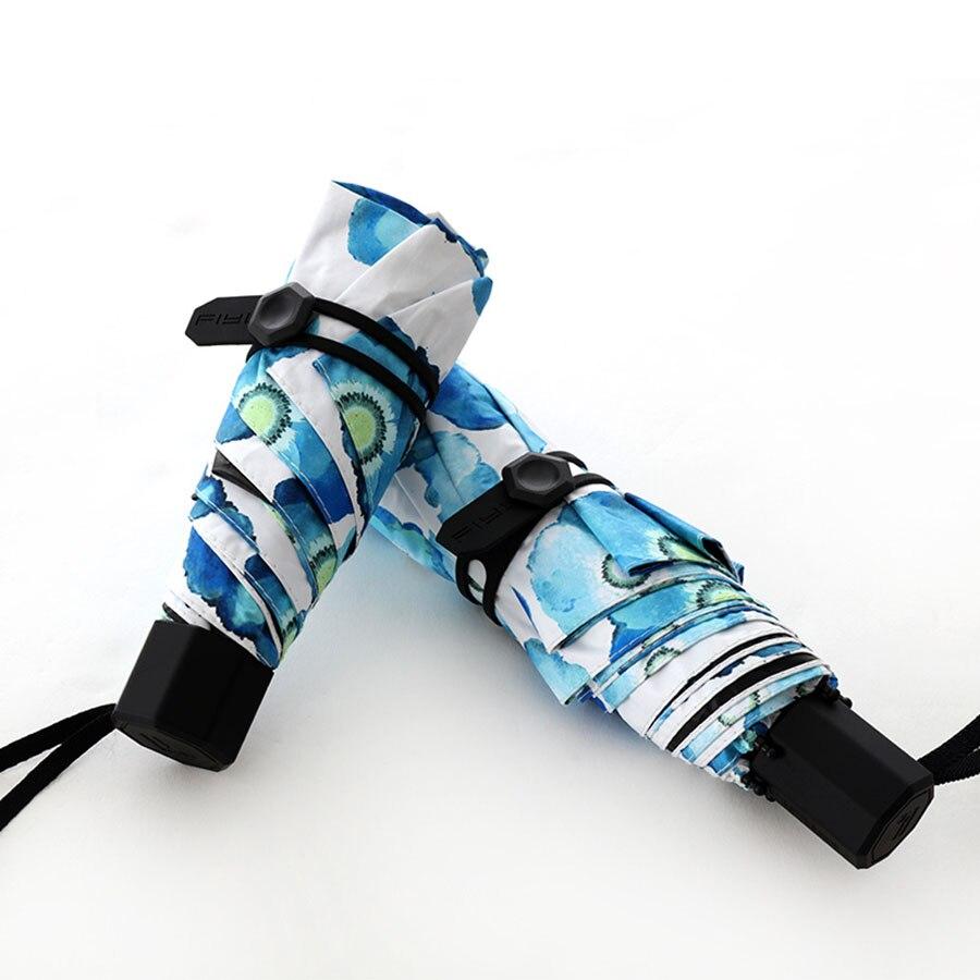 Lumière cinq pliant Mini parapluie poche Super petit Parasol pluie femmes Parasol jardin Sombrillas Uv Con protection solaire 5
