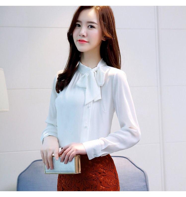 034dc19b5ff ... 2019 New Arrival Women s Shirts Autumn Chiffon Blouse Shirt Work Wear  Office Tops Fashion Elegant Bow ...