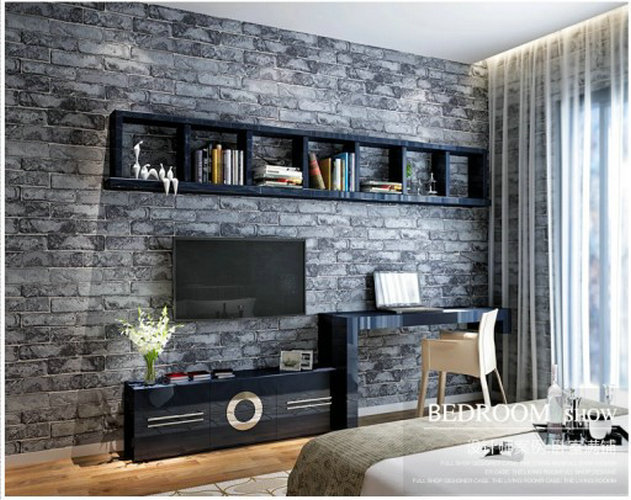 washable home decoration vinyl wallpapers brick wall