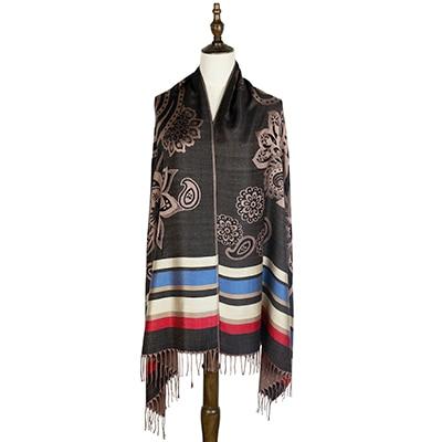 Mujer жаккардовые шарф хлопка обертывания платки шарфы femme пашмины шали  шарф в полоску цветочные шарфы модные хиджабы накидки купить на AliExpress b9c98ef88e6