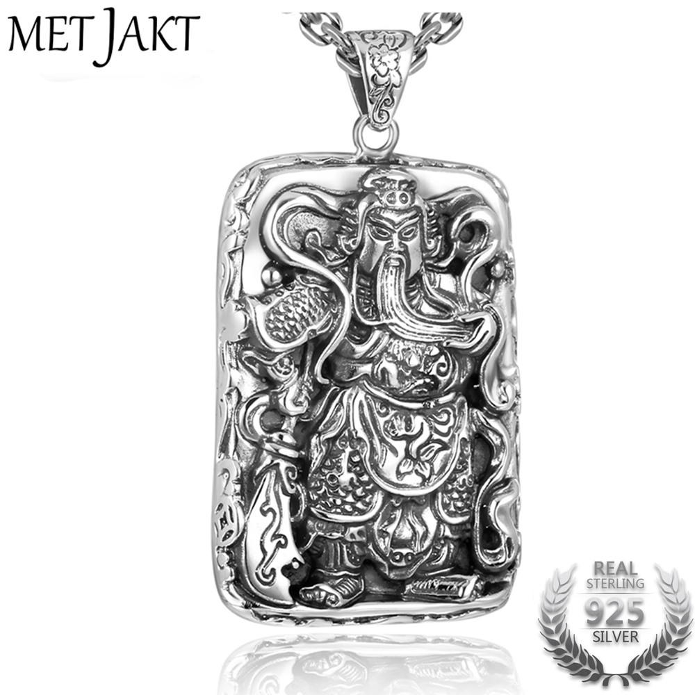 MetJakt Solid 925 Sterling Silver Pendant for Necklace & Symbol of Heroic Loyalty Wealth Pendant for Cool Men Luxury Jewelry loyalty