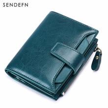 15f166fe153c96 SENDEFN frauen Brieftasche Leder Kleine Luxus Marke Brieftasche Frauen  Kurze Zipper Damen Geldbörse Karte Halter Femme