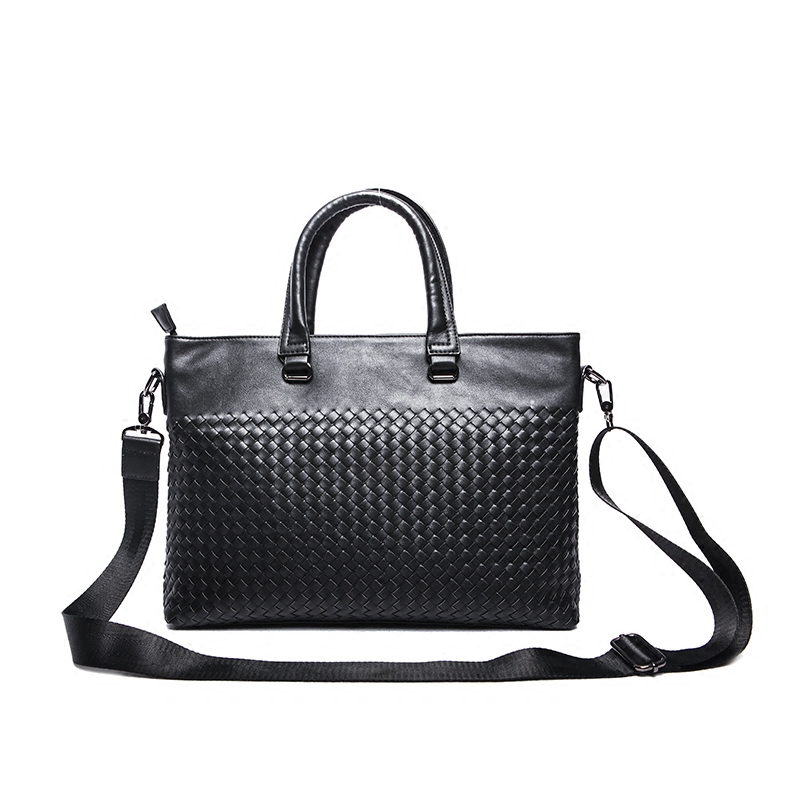Our ReALIty 1 arrival Pigskin Genuine Leather Business Suitcases Diamond Lattice Black Daily Tote Best Gift for Father EGT0131 augmented reality navigation