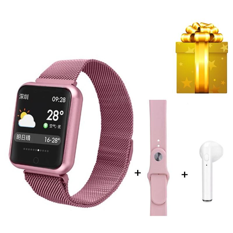 P68 belt earphone set women girl fitness bracelet with pressure measurement fitness band VS B57 X11
