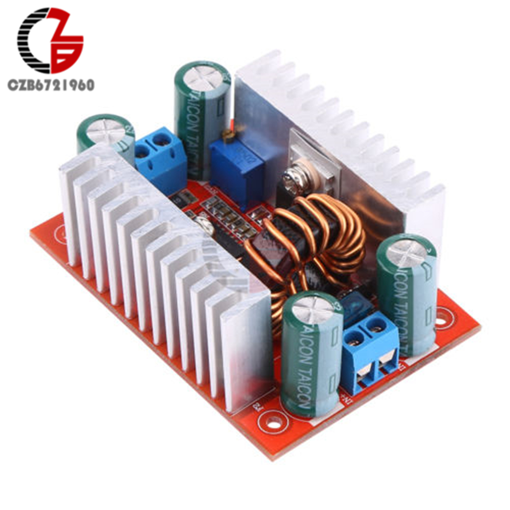 400W <font><b>15A</b></font> <font><b>DC</b></font>-<font><b>DC</b></font> Boost Converter <font><b>Step</b></font> <font><b>Up</b></font> Power Transformer Supply Voltage Regulator Constant Power Heat Sink 8.5V-50V to 10-60V image