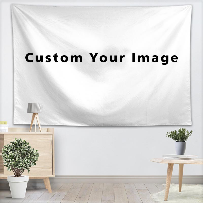 Customize Your Pattern Wall Tapestry Home Decoration Wall Carpet Rectangular Modern Printing Fabric Yoga Mat Blanket Tapestry in Tapestry from Home Garden
