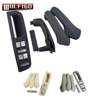 WOLFIGO 5 ADET Siyah/Bej/Gri Iç Kapı Kolu kulp kılıfı Anahtari Bezel Trim Kiti Fit VW Golf MK4 passat 1J0867171A Yeni