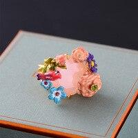 花オウムピンク宝石リング卸売