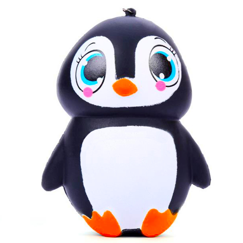 Jumbo Kawaii Penguin Girl Squishy Straps Cream Scented Slow Rising Simulation Soft Stress Relief Squeeze Toys Fun For Kid Gift