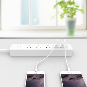 Image 5 - ORICO Smart Home Elektronische Power Streifen Buchse 3 AC Outlets UNS Stecker Mit 4 USB Ports Multifunktions Desktop Buchse
