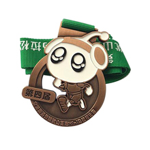 Factory Customized metal medals cheap custom made print logo Awards sports Medal with ribbons
