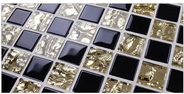 black gold purple bathroom glass mosaic tiles for bathroom home improvement mirror black gold