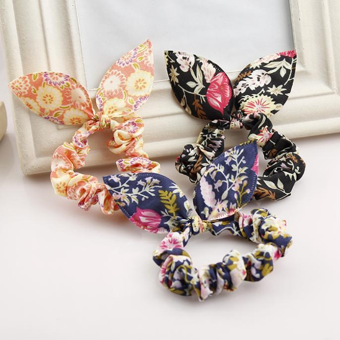 Women 39 s rope flower jewelry Korea small jewelry rabbit ears cloth dot rubber band rope ring gift massage in Massage amp Relaxation from Beauty amp Health