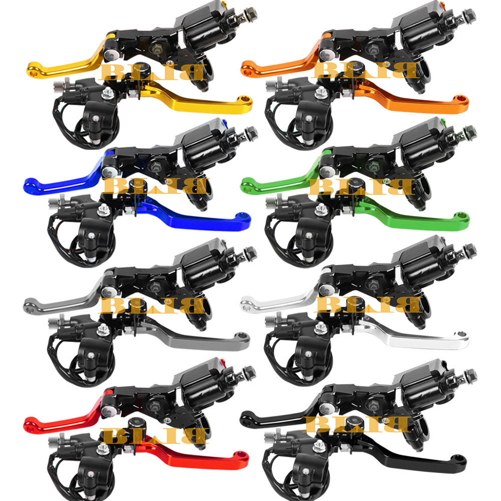 Universal For Honda CR80R 85R XR250 MOTARD CR125R 250R CRF250X Moto Dirt Pit Bike Clutch Brake Master Cylinder Reservoir Levers cnc 7 8 for honda cr80r 85r 1998 2007 motocross off road brake master cylinder clutch levers dirt pit bike 1999 2000 2001 2002