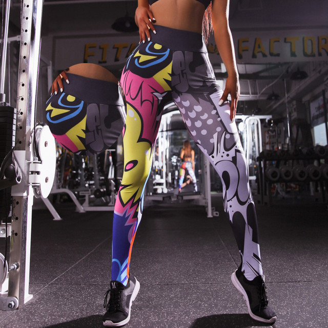 Holographic Color 3D Graphic Full Printed Workout Yoga Pants 2