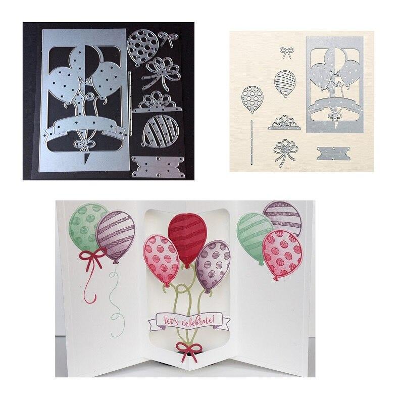Balloon Metal Cutting Dies Stencils DIY Scrapbooking Paper Card Album Craft