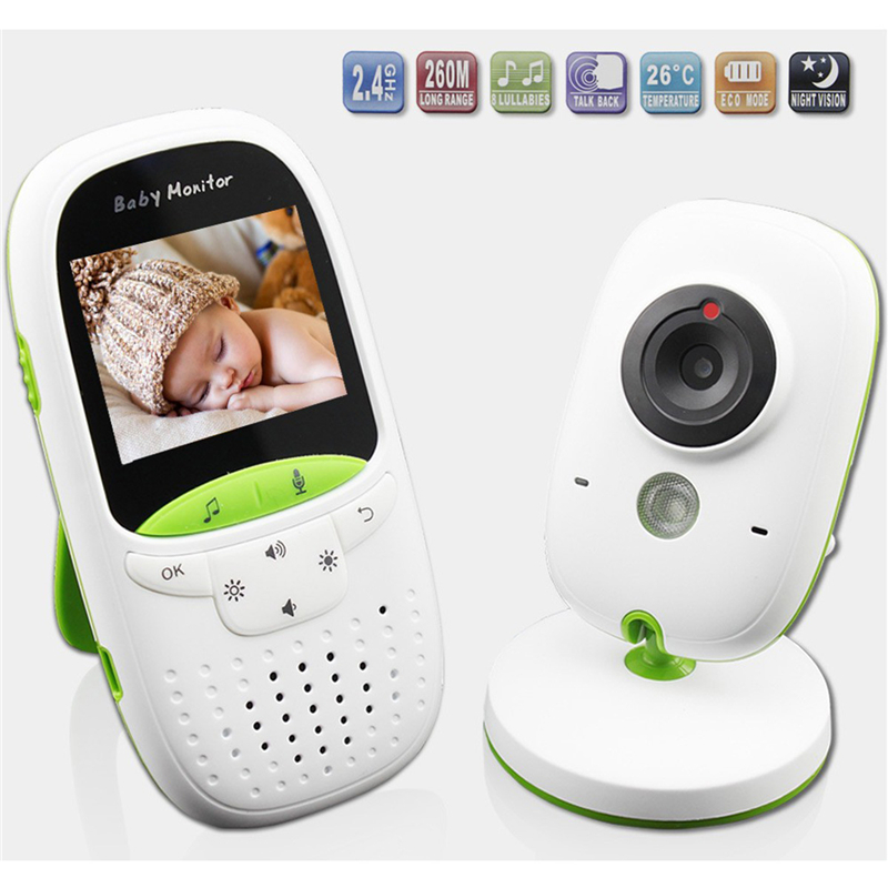 Wireless LCD Audio Video Baby Monitor Security Camera Baby Monitor With Camera 2 Way Talk Night Vision IR Temperature Monitoring wireless video baby monitor with camera night version two way talk video audio 2 lcd monitoring temperature security babysitter