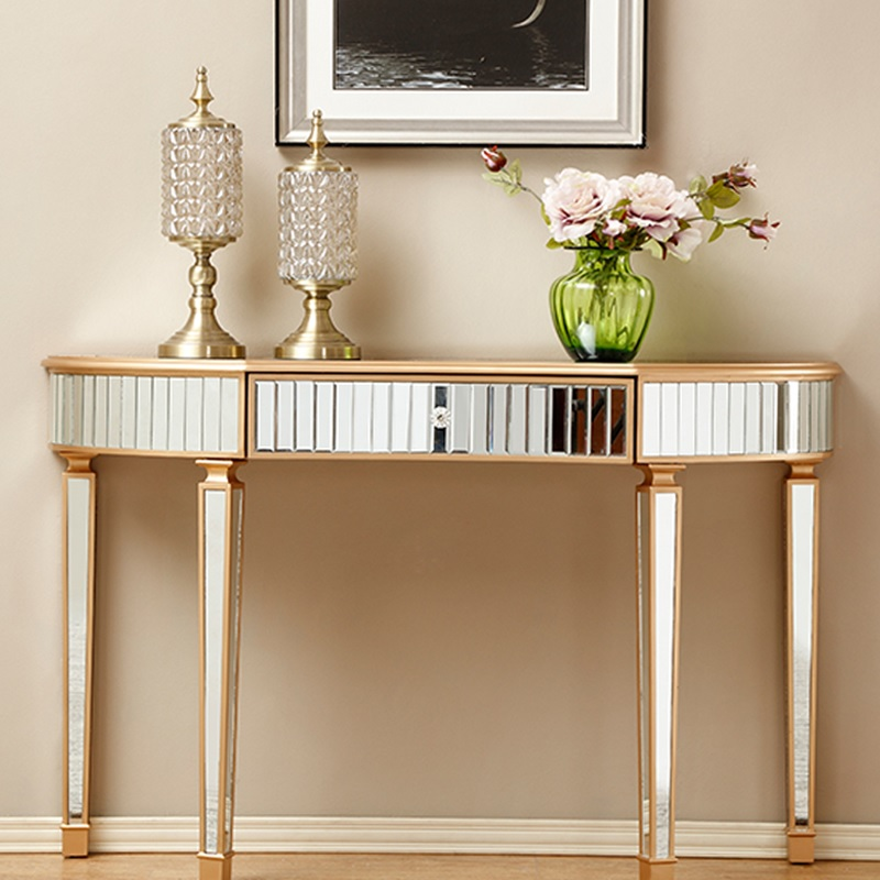 120cm Length Mirrored Console Table