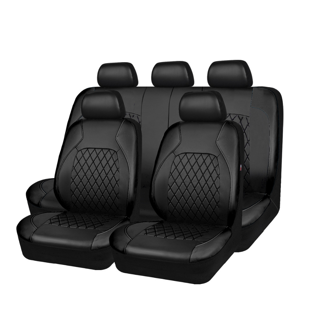 Carpass Pu Leather black color 11 Pieces Universal Car Seat Cover for ford bmw toyoto nissan golf peugeot renault mazda volvo carpass pu leather black color 11 pieces universal car seat cover for ford bmw toyoto nissan golf peugeot renault mazda volvo