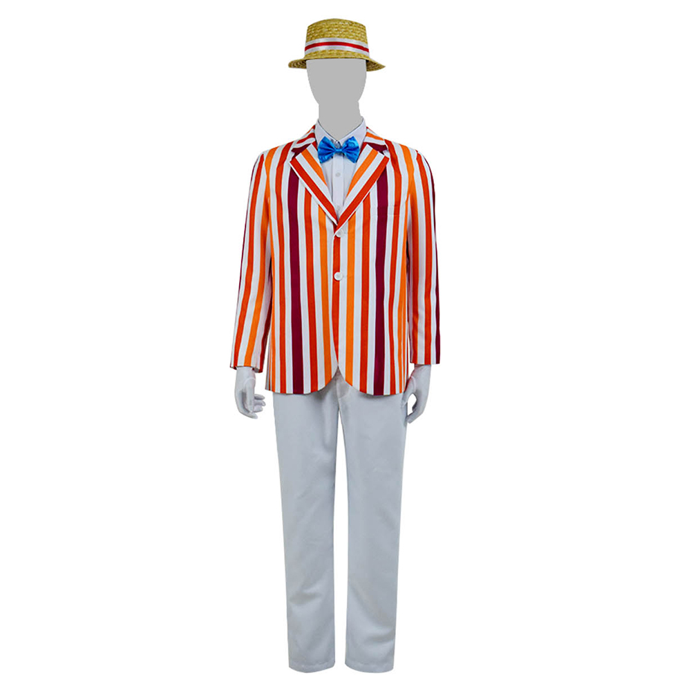 Mary Poppins Bert Cosplay Costume Men's suit Full Set Halloween Cosplay Cosdaddy