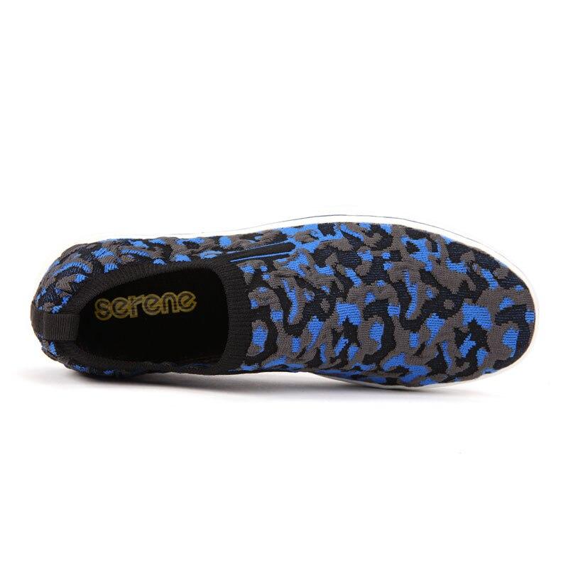 Confort Style Chaussures Fils brown Slip Teints Blue Wine Casual fond Mocassins Hommes Nouveau Respirant 7122 red Belle on Tissu Doux vgIqw5p