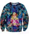 Unisex Women Men Casual Jumper Digital Buddha Sweatshirt colorful blue all-over print Mosaic 3d Sweats Hoodies Tops Plus Size