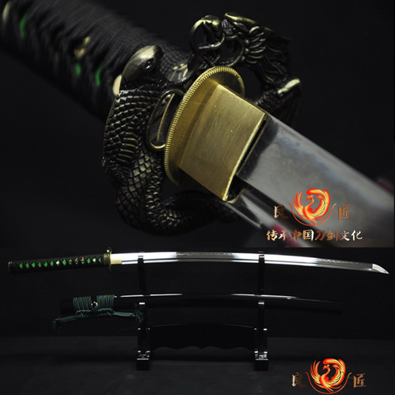 Hand forged T10 Clay tempered japanese samurai sword katana  full tang sharpenedHand forged T10 Clay tempered japanese samurai sword katana  full tang sharpened