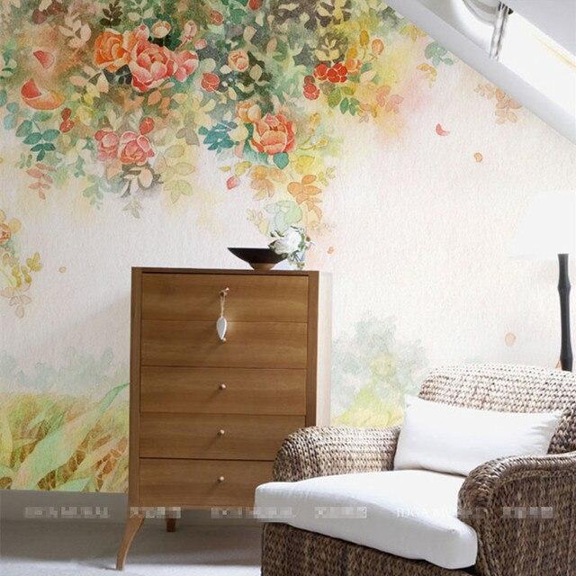 Elegant Photo Wallpaper Rose Flower Wall Murals 3D Custom Wallpaper Kids  Bedroom Living Room Girls Room Part 86