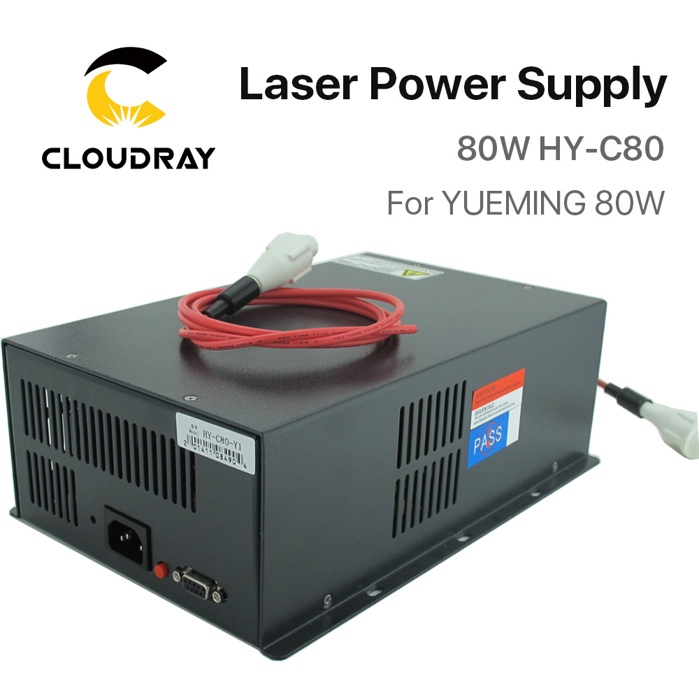 Cloudray Co2 Laser Power Supply 80W For YUEMING Engraving / Cutting Machine