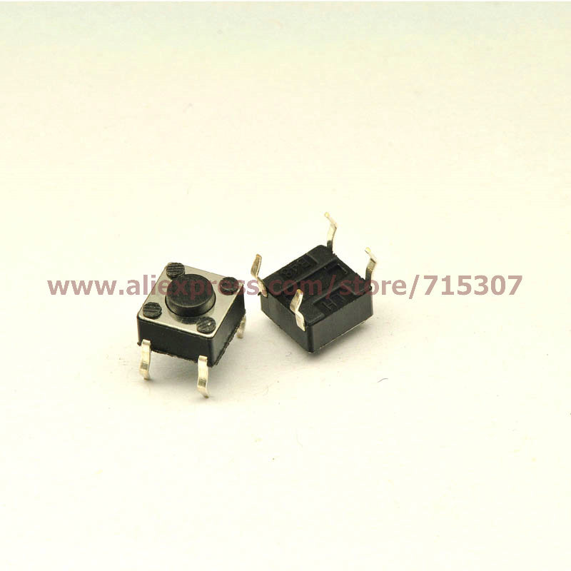 Lights & Lighting Phiscale 20pcs 6*6*4.3/6x6x4.3mm Touch Button Switch Vertical 4pin Preventing Hairs From Graying And Helpful To Retain Complexion