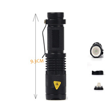 Top Adjustable Focus Zoom Waterproof Flashlight Cree Q5 1000 Lumens LED Flashlight 3 Mode LED Torch
