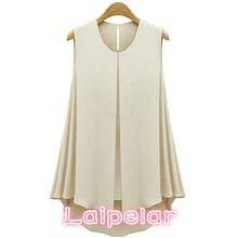 9419428bc35 Fashion Chiffon Shirt for Women Blouses 2018 Summer Shirts Plus Size  Ruffles Tops Sleeveless O-neck Shirts Top S-XL