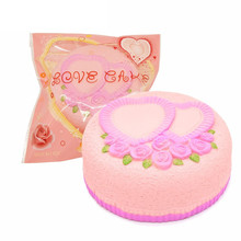 Areedy Love Cake Jumbo Rose Heart cake Squishies Gift Decor toy for Kids Slow Rising toy Wedding decoration Squeeze toy